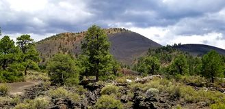Sunset crater stock photography
