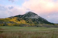 Sunset Crested Butte Royalty Free Stock Photo