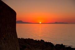 Sunset at Crete Stock Photography