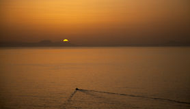Sunset at Crete Royalty Free Stock Photography