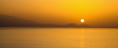 Sunset at Crete Royalty Free Stock Photos