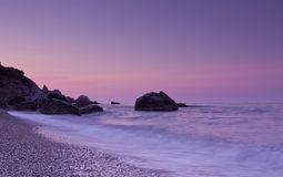 Sunset in Crimea Stock Image