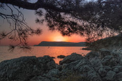 Sunset in Crimea Royalty Free Stock Photography