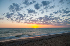Sunset in Crimea. Beautifull sunset at the west coast of Crimea Stock Photography