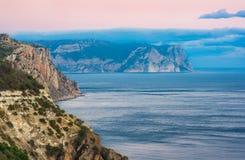 Sunset in Crimea Stock Photo