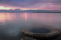 Sunset in Crimea. Summer landscape in the beautiful Crimea Royalty Free Stock Images