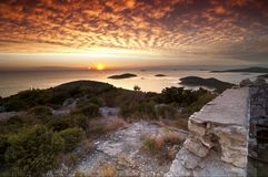 Sunset in Croatia Stock Photo