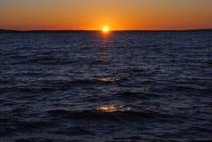 Sunset. Croatia Dalmacia  summer 2015 Royalty Free Stock Photography