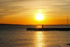 Sunset. Croatia Dalmacia  summer 2015 Royalty Free Stock Photo