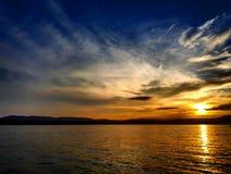 Sunset in croatia, island krk, malinska. Sunset in malinska Stock Photography