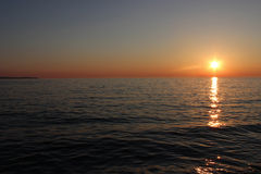 Sunset in Croatia Stock Images