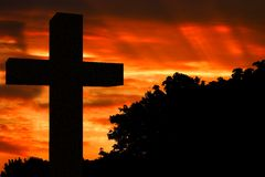Sunset cross Royalty Free Stock Photo
