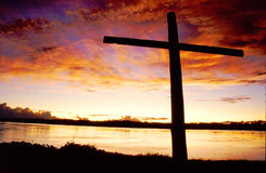 Sunset Cross Royalty Free Stock Photos