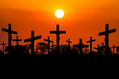 Sunset Crucifixion Royalty Free Stock Photo