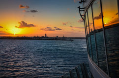 Sunset Cruise  Departure Royalty Free Stock Photo