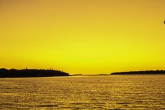 Sunset Cruise in Georgian Bay stock photography