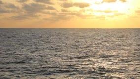 Sunset on a cruise on the Mediterranean Sea stock video