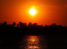 Sunset cruise over Zambezi. River, Zimbabwe Stock Images