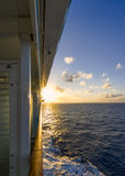 Sunset on a Cruise Ship Royalty Free Stock Images