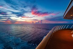 Sunset From A Cruise Ship Stock Photography