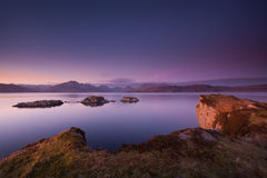 Sunset at the Cuillins. royalty free stock photo