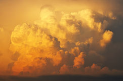 Sunset Cumulonimbus Clouds Stock Photos