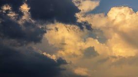 Sunset cumulus clouds time lapse stock footage