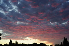 Sunset in cupertino. A beautiful sunset view with colorful clouds in cupertino, CA Stock Photos