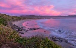 Sunset at Curio Bay Stock Photo