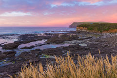 Sunset at Curio Bay Stock Photography