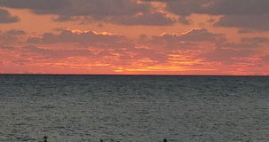 Sunset in Cyprus. Sunset as seen from Cyprus coast stock video footage