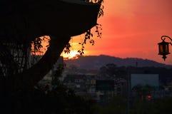 Sunset in Da Lat, Vietnam. royalty free stock image