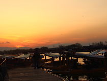 Sunset In Dal Lake. Stock Photography