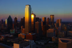 Sunset at dallas downtown Royalty Free Stock Images