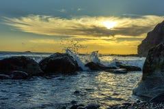 Sunset ,Dana Point, California. Ocean wave Royalty Free Stock Image