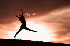 Sunset Dancer Royalty Free Stock Image
