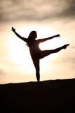 Sunset Dancer Royalty Free Stock Photos