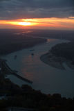 Sunset on the Danube royalty free stock photos