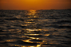 Sunset in the Danube Delta Royalty Free Stock Photos
