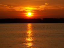 Sunset on Danube Stock Images