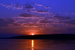 Sunset on the Danube Royalty Free Stock Image