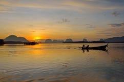 Sunset at dawn in Phang Nga Stock Photo