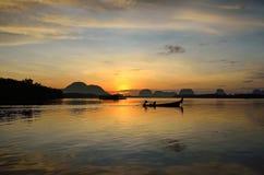 Sunset at dawn in Phang Nga Royalty Free Stock Photo