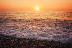 Sunset dawn in the sea Royalty Free Stock Photography