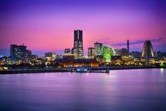 &Sunset de Yokohama Foto de archivo