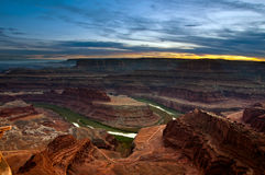 Sunset at Dead horse point state park. Royalty Free Stock Image