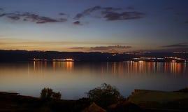 Sunset in Dead Sea, Jordan stock photography