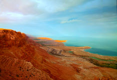 Sunset at Dead Sea Stock Photography