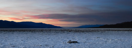 Sunset in death valley Royalty Free Stock Image