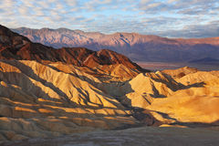Sunset. The Death Valley in California Stock Photography